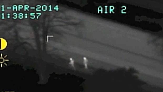 Air One video shows police takedown of car thieves