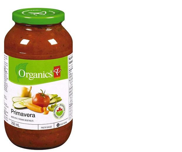 President's Choice Organics brand Primavera Pasta 2222