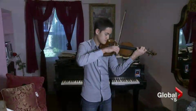 Victoria mom sells home to fund son's budding career as violinist