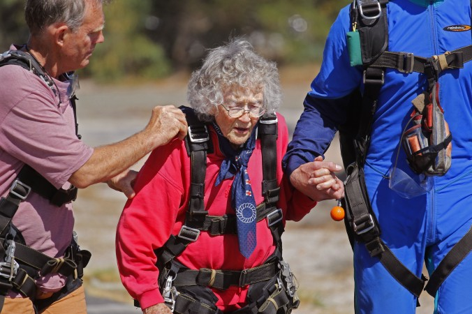 South African woman celebrates 100th birthday by skydiving