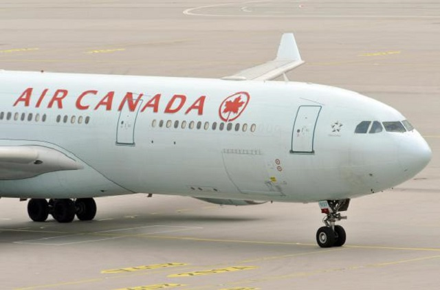 The plane of Air Canada, with German-Can