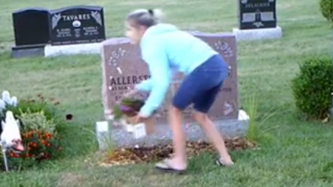 Alleged serial cemetery thief caught on camera in London