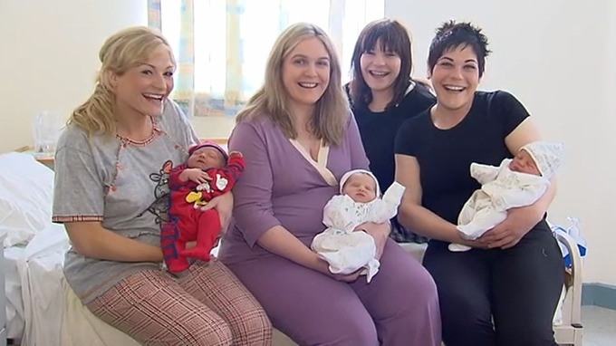 3 sisters give birth on same day at same hospital