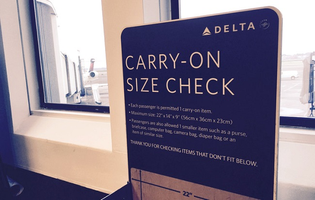 Your carry-on luggage might not meet airline size rules