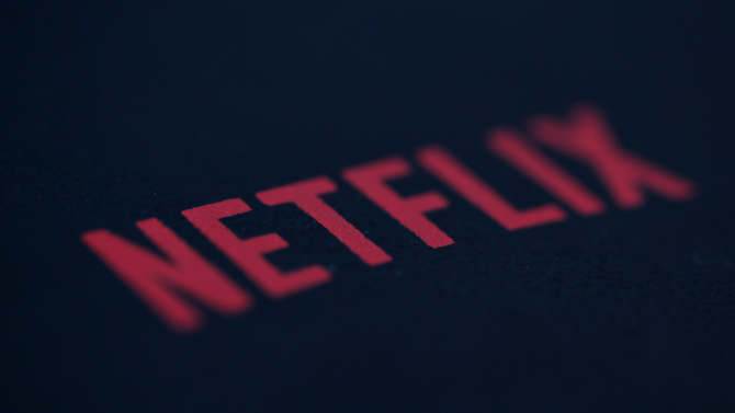 An illustration photo shows the logo of Netflix the American provider of on-demand Internet streaming media in Paris