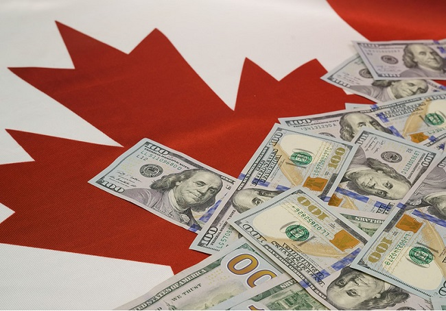 canadian-dollar-exchange-rates-flag-and-usd