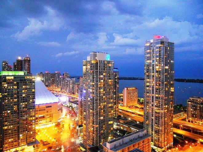 Glowing Toronto Skyline