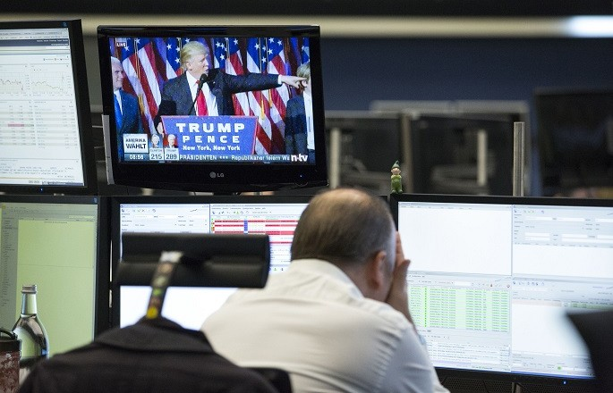 Frankfurt Stock Exchange after US election