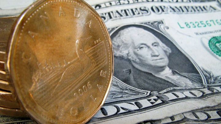 Loonie falls to lowest level