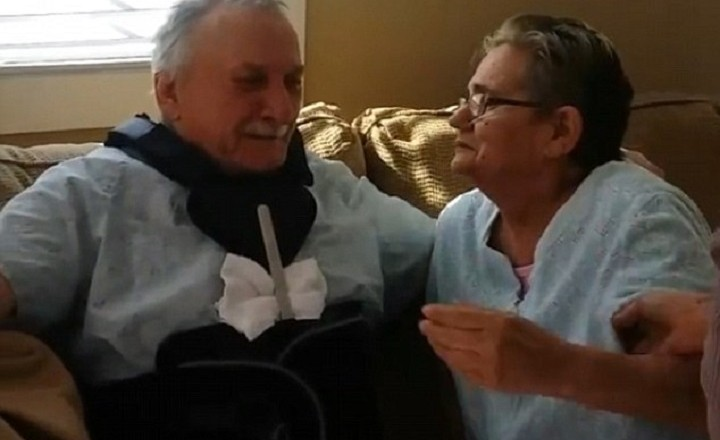 Terminally ill couple married 51 years has emotional reunion after cancer treatments