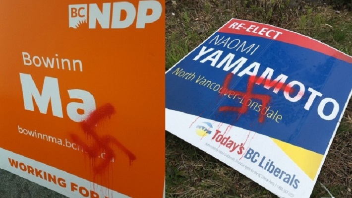swastika-vandalism-on-campaign-signs