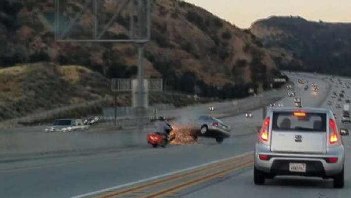 Road rage kickstarts fiery chain reaction crash