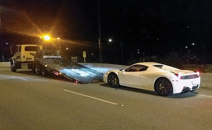 West Vancouver Police impound Ferrari clocked at 210 km