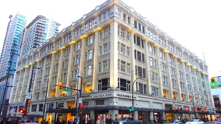 Hudson's Bay to sell its iconic flagship downtown Vancouver