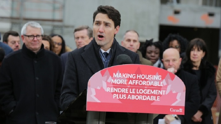 Prime Minister Justin Trudeau announced plans for the government to spend as much as $40 billion dollars on housing