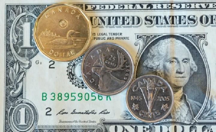 The Canadian dollar or loonie is under pressure amid weak