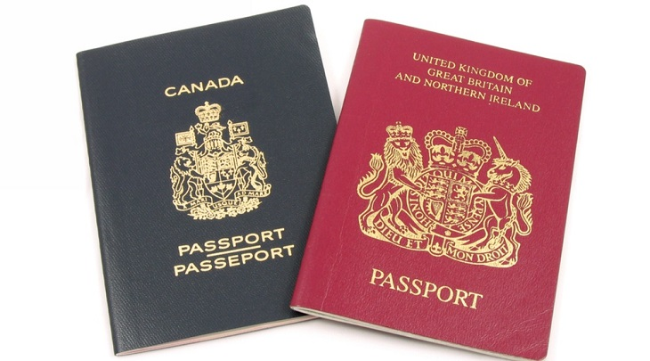 Canadian-and-British-passports-Norman-ChanShutterstock