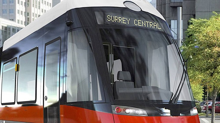 Mayors announce funding for Broadway SkyTrain, Surrey light rail