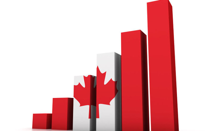 25509810 - graph with canadian flag