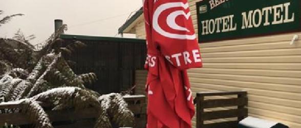 بارش برف بهاری در جنوب استرالیا !