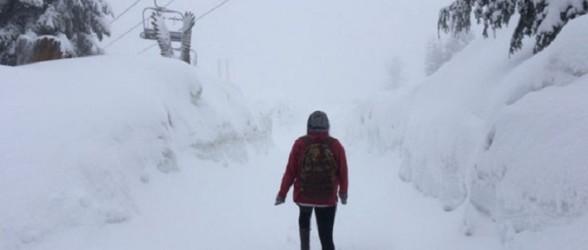 بارش 25 سانتی متر برف در  Grouse Mountain