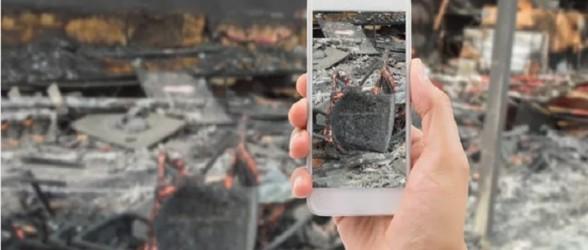 کشته شدن مردی که برای نجات گوشی موبایل به ساختمان شعله ور برگشت(فیلم)