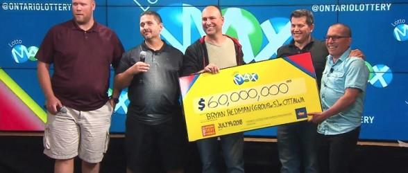 واکنش پنج همکار انتاریویی پس از اطمینان از دریافت جایزه 60 میلیون دلاری لاتاری (فیلم)