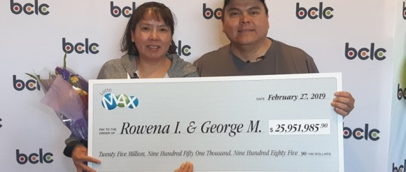 زوج حیرتزده بریتیش کلمبیایی برنده لاتاری 25.9 میلیون دلاری شدند