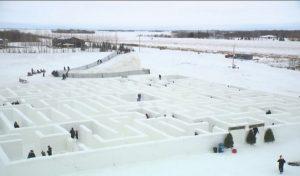 خانوادهای در منیتوبا رکورد بزرگترین ماز برفی جهان را شکست(فیلم)