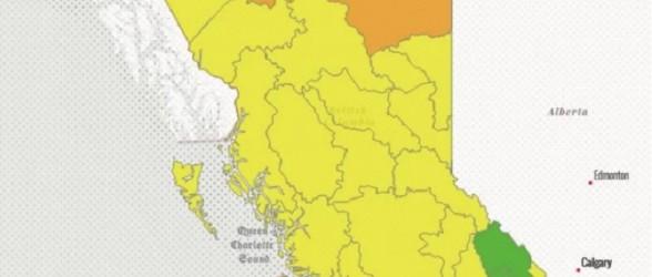 با کم آبی رودخانهها در سرتاسر بریتیش کلمبیا؛نگرانی از خشکسالی افزایش یافت