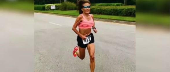 مادر بزرگ ۷۱ ساله رکورد دو نیمهماراتن را شکست