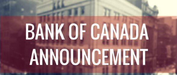 بانک مرکزی کانادا با توجه به ثبات اقتصاد جهانی  نرخ بهره را تغییر نداد