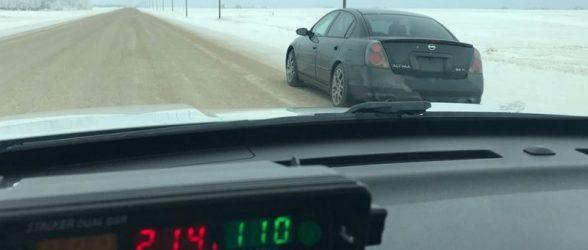 جریمه ۱۵۰۰ دلاری راننده ساسکچوانی بابت سرعت غیرمجاز