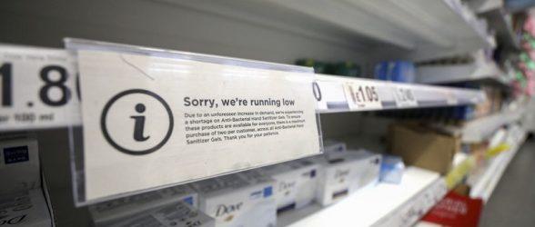 سوداگران برخی محصولات ضدعفونی را  در آمازون و کی جی جی به ده برابر قیمت می فروشند