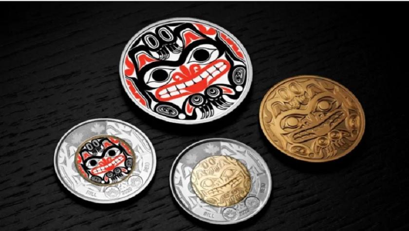سکه دو دلاری جدید کانادایی با یکی از آثار مشهور هنرمند «هایدا»