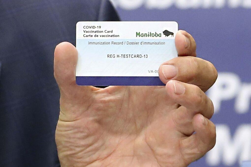 صدور کارت گواهی واکسن برای معافیت از قرنطینه در منیتوبا