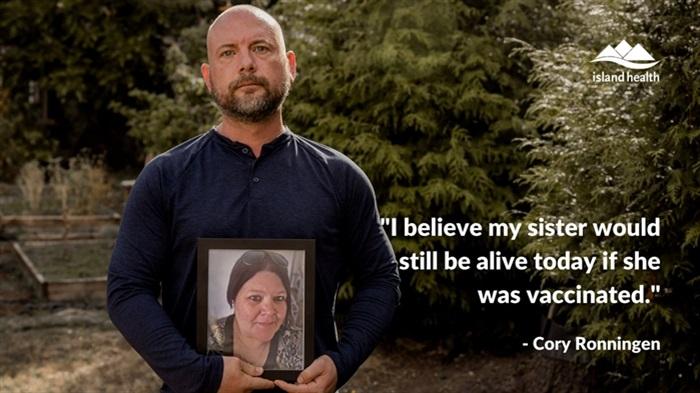 مرد بریتیش کلمبیایی بعد از مرگ خواهرش بر اثر کووید19 از مردم می خواهد واکسن بزنند